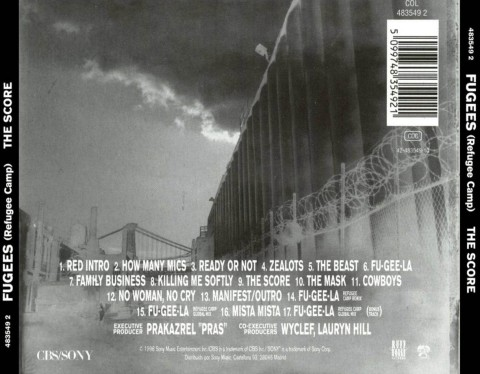 fugees - the score (back)