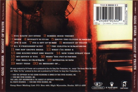 moment of truth back cover